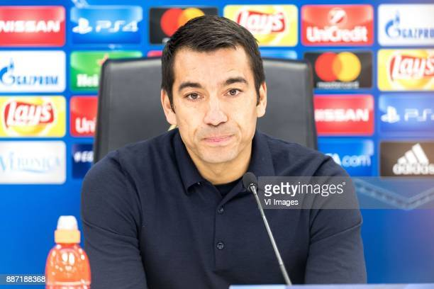 coach Giovanni van Bronckhorst during the UEFA Champions League group F match between Feyenoord Rotterdam and SSC Napoli at the Kuip on December 06...