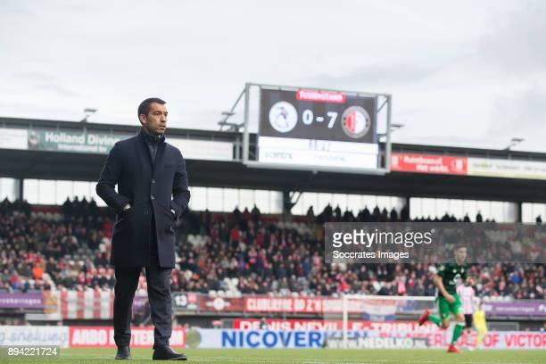 coach Giovanni van Bronckhorst of Feyenoord during the Dutch Eredivisie match between Sparta v Feyenoord at the Sparta Stadium Het Kasteel on...