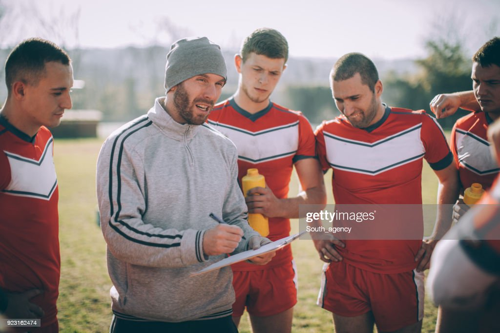 Coach has advice for players : Stock Photo