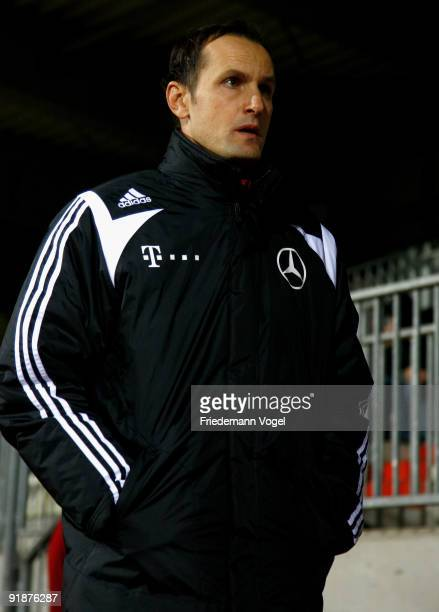 Coach Heiko Herrlich of Germany looks on during the U19 Euro Qualifier match between Turkey and Germany at the Stade Josy Barthel on October 12 2009...