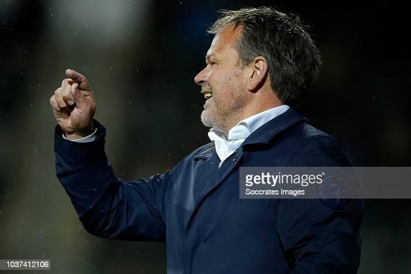 Coach Henk De Jong Of De Graafschap During The Dutch