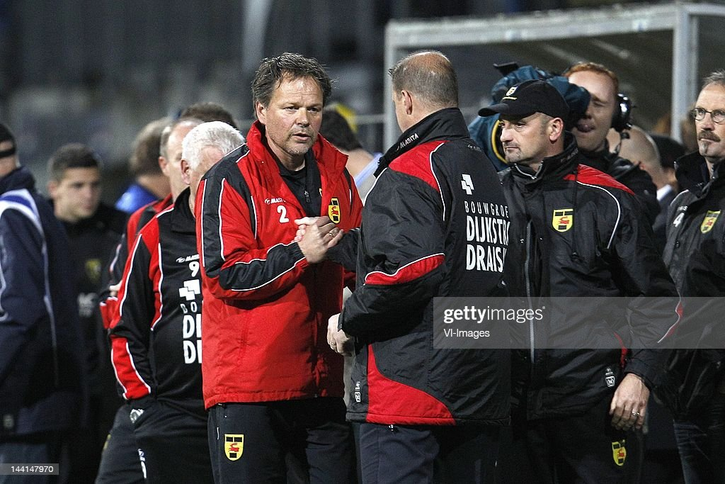 Coach Henk De Jong Of Sc Cambuur And Coach Alfons Arts Of Sc Cambuur News Photo Getty Images