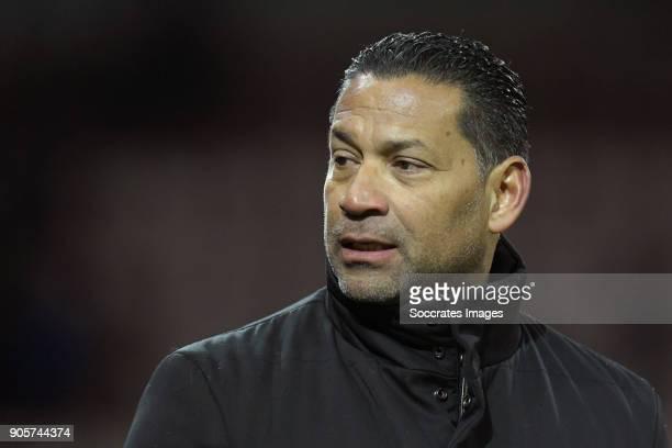 coach Henk Fraser of Vitesse during the Dutch Eredivisie match between Sparta v Vitesse at the Sparta Stadium Het Kasteel on January 16 2018 in...