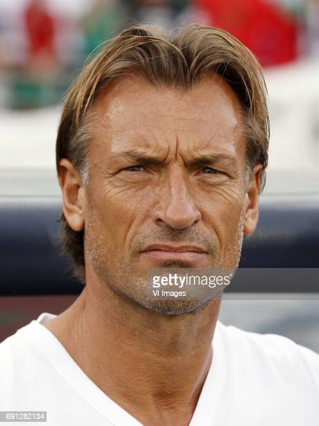 coach Herve Renard of Moroccoduring the friendly match between Morocco and The Netherlands at Grand Stade Adrar on May 31 2017 in Agadir Morocco