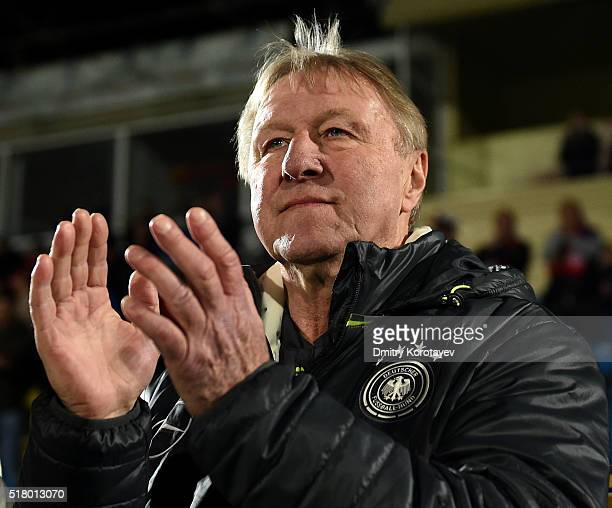 Coach Horst Hrubesch of Germany U21 during the 2017 UEFA European U21 Championships qualifier match between Russia U21 and Germany U21 at Olimp 2...