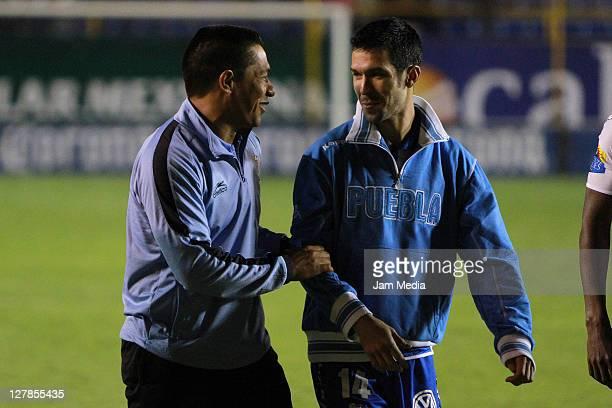 Coach Ignacio Ambriz of San Luis during a match as part of the Apertura 2011 at Alfonso Lastras Stadium on October 1, 2011 in San Luis Potosi, Mexico.