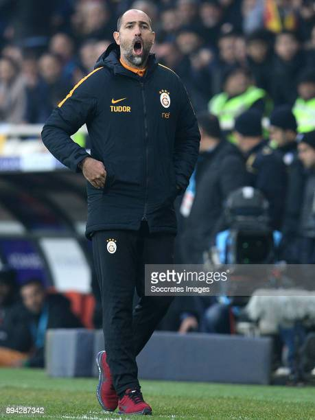 coach Igor Tudor of Galatasaray during the Turkish Super lig match between Malatyaspor v Galatasaray at the Malatya Arena on December 17 2017 in...