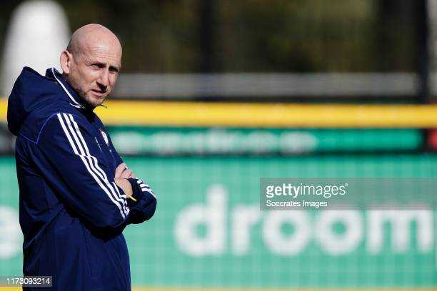 Coach Jaap Stam of Feyenoord during the Training Feyenoord at the 1908 on October 2 2019 in Rotterdam Netherlands
