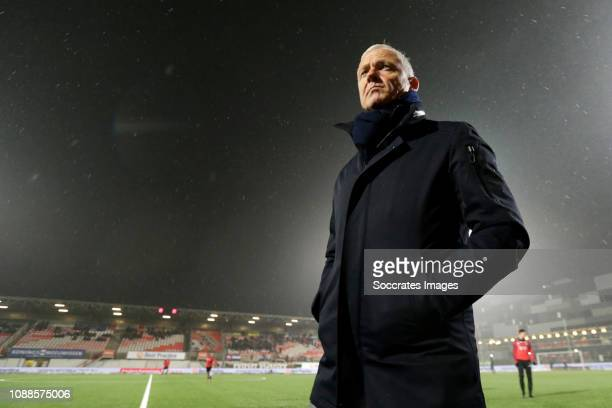Coach Jack de Gier of NEC Nijmegen during the Dutch Keuken Kampioen Divisie match between TOP Oss v NEC Nijmegen at the Frans Heesen Stadium on...