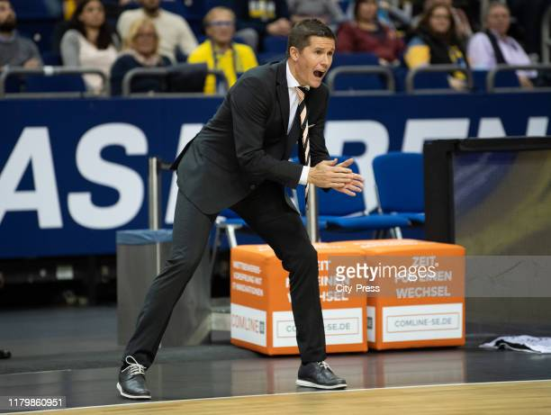Coach Jaka Lakovic of ratiopharm Ulm during the match between ALBA BERLIN and ratiopharm ulm at the Mercedes-Benz Arena on November 3, 2019 in...