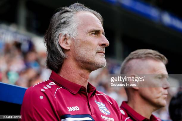 Coach Jan Olde Riekerink of SC Heerenveen during the Club Friendly match between SC Heerenveen v Kayserispor at the Abe Lenstra Stadium on July 21...
