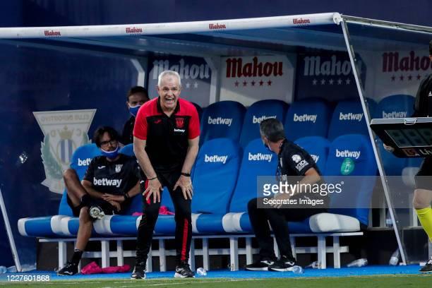 Coach Javier Aguirre of Leganes during the La Liga Santander match between Leganes v Valencia at the Estadio Municipal de Butarque on July 12, 2020...