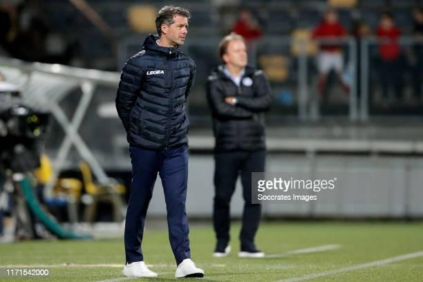 Coach Jean Paul de Jong of Roda JC during the Dutch Keuken Kampioen Divisie match between Roda JC v De Graafschap at the Parkstad Limburg Stadium on...