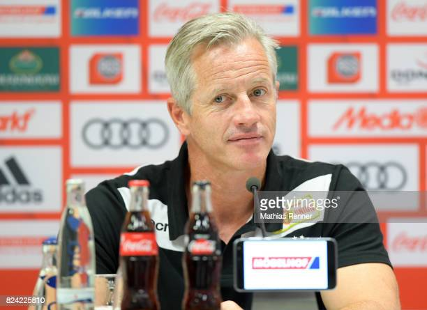 coach Jens Keller of 1 FC Union Berlin after the game between FC Ingolstadt and Union Berlin on july 29 2017 in Berlin Germany