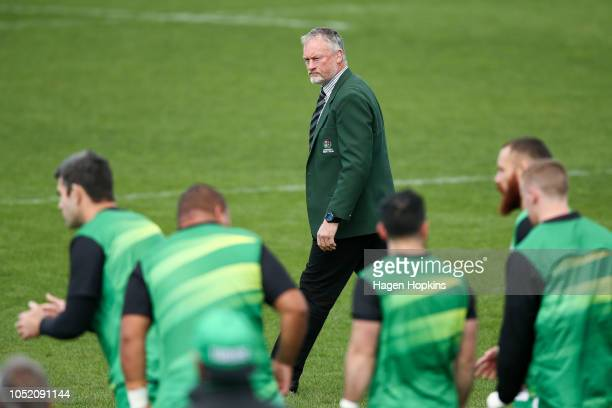 Coach Jeremy Cotter of Manawatu looks on during the round nine Mitre 10 Cup match between Manawatu and Southland at Central Energy Trust Arena on...