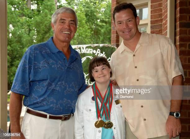 Coach Jim Mora Sr., Katy Wilson, Athlete Special Olympics and Coach Jim Mora, Atlanta Falcons