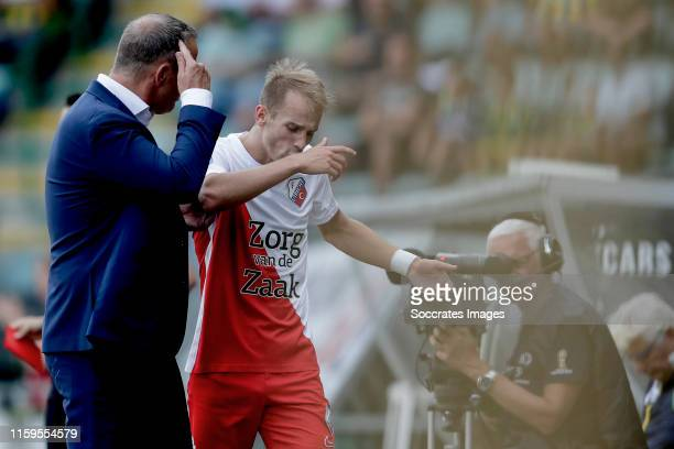 coach John van den Brom of FC Utrecht Vaclav Cerny of FC Utrecht during the Dutch Eredivisie match between ADO Den Haag v FC Utrecht at the Cars...
