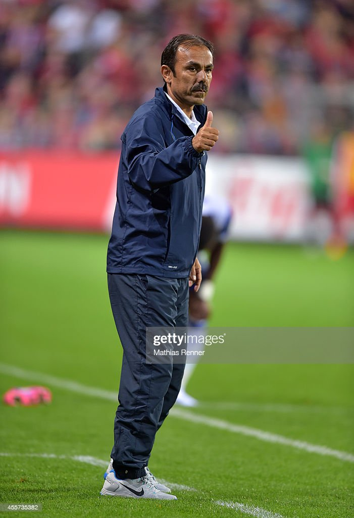 Coach Jos Luhukay of Hertha BSC during the Bundesliga match between SC Freiburg and Hertha BSC on september 19, 2014 in Freiburg, Germany.