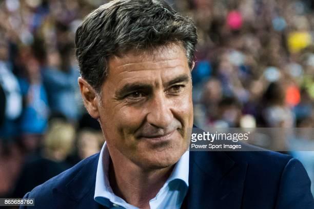 Coach Jose Miguel Gonzalez Martin del Campo Michel of Malaga CF prior to the La Liga 201718 match between FC Barcelona and Malaga CF at Camp Nou on...