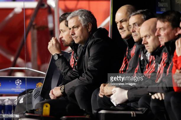 coach Jose Mourinho of Manchester United during the UEFA Champions League match between Sevilla v Manchester United at the Estadio Ramon Sanchez...