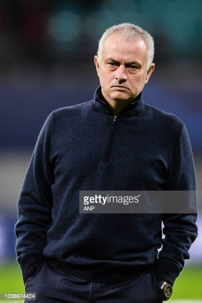 coach Jose Mourinho of Tottenham Hotspur FC during the UEFA Champions League round of 16 second leg match between Red Bull Leipzig and Tottenham...