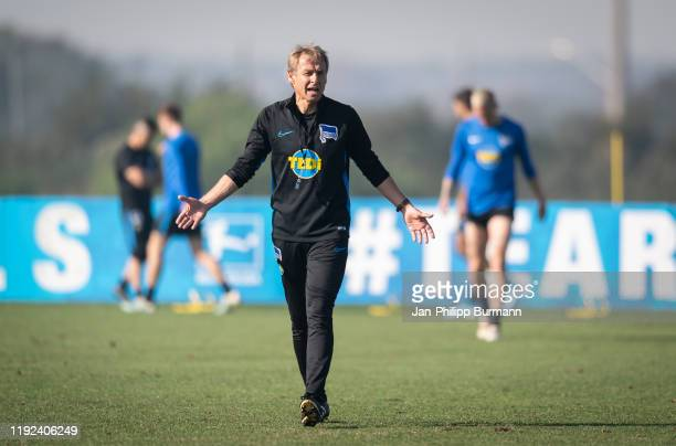 Coach Juergen Klinsmann of Hertha BSC during the training on January 7, 2020 in Orlando, Florida.