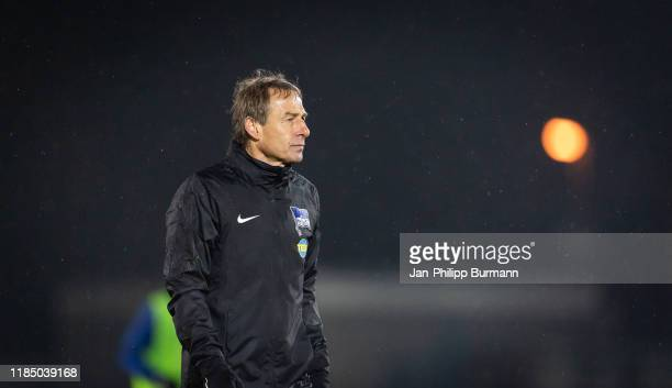 coach Juergen Klinsmann of Hertha BSC during the training session at Amatuerstadion of Hertha BSC on November 27 2019 in Berlin Germany