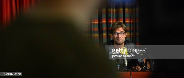 Coach Juergen Klopp of Borussia Dortmund speaks at a press conference in the team hotel in Bad Ragaz, Switzerland, 11 July 2013. From 11 July to 18...