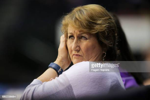 Coach Julie Hoornweg of the Stars looks on during the New Zealand Premiership match between the Pulse and the Stars at TSB Arena on May 8 2017 in...