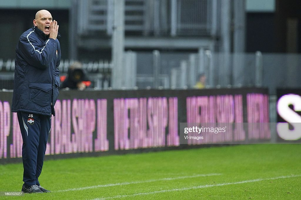 coach Jurgen Streppel of Willem II during the Dutch Eredivise match between FC Utrecht and Willem II at the Galgenwaard Stadium on January 27, 2013 in Utrecht, The Netherlands.