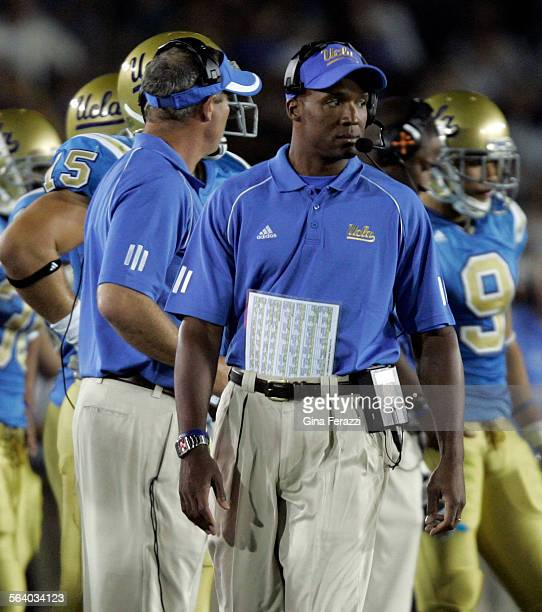 UCLA coach Karl Dorrell paces the sideline agasint Rice at the Rose Bowl in Pasadena Saturday Sept 92006