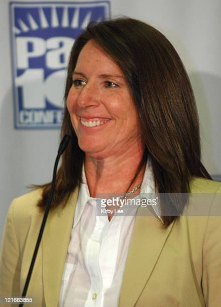 UCLA coach Kathy Olivier at Pacific10 Conference Women's Basketball Media Day at the HP Pavilion in San Jose Calif on Tuesday November 7 2006