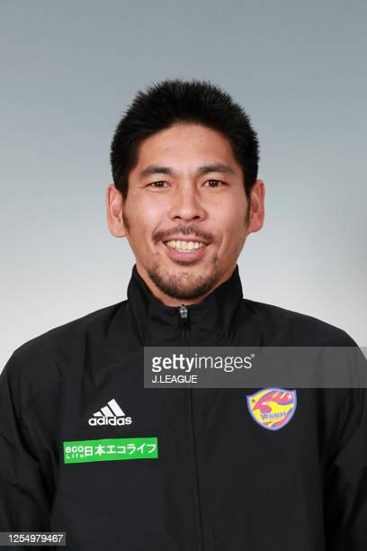 Coach Kazuhiro Murakami poses for photographs during the Vegalta Sendai portrait session on January 9, 2020 in Japan.