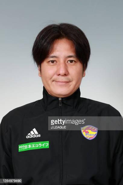 Coach Kentaro Yoshida poses for photographs during the Vegalta Sendai portrait session on January 9, 2020 in Japan.