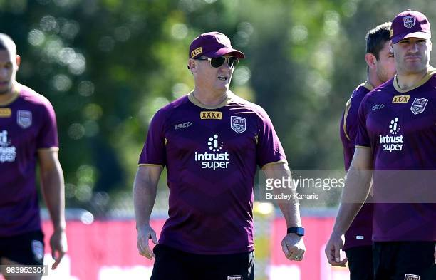 Coach Kevin Walters during a Queensland Maroons training session at Sanctuary Cove on May 31 2018 at the Gold Coast Australia