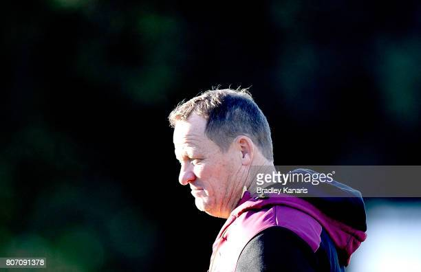 Coach Kevin Walters is seen during a Queensland Maroons State of Origin training session at Langlands Park on July 4 2017 in Brisbane Australia