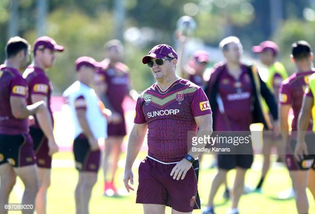 Coach Kevin Walters is seen during a Queensland Maroons training session at Sanctuary Cove Resort on June 18 2017 at the Gold Coast Australia
