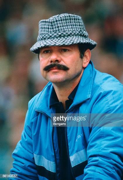 coach Klaus Schlappner of Waldhof Mannheim is seen during the bundesliga match between 1 FC Nuremberg and Waldhof Mannheim on September 02 1987 in...