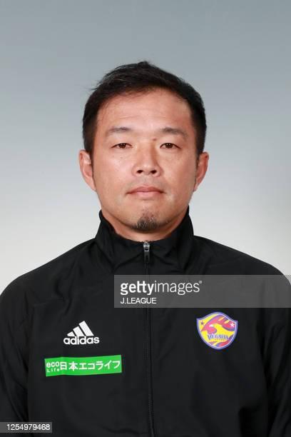 Coach Kosuke Kitani poses for photographs during the Vegalta Sendai portrait session on January 9, 2020 in Japan.