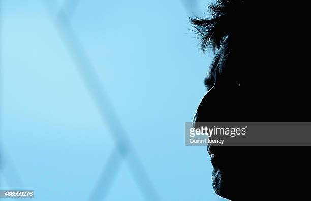 NSW coach Laurie Daley looks on during the 2015 State of Origin Series Launch at Eureka Tower on March 17 2015 in Melbourne Australia