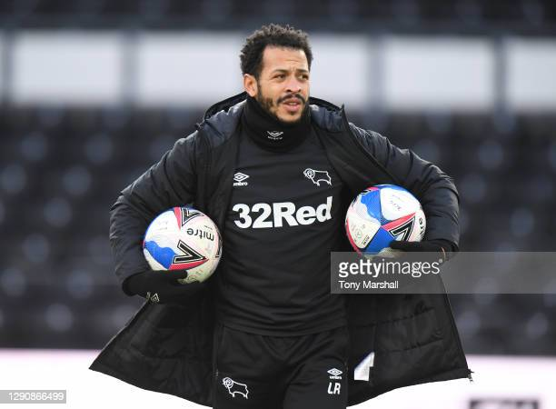 Coach Liam Rosenior of Derby County during the Sky Bet Championship match between Derby County and Stoke City at Pride Park Stadium on December 12,...