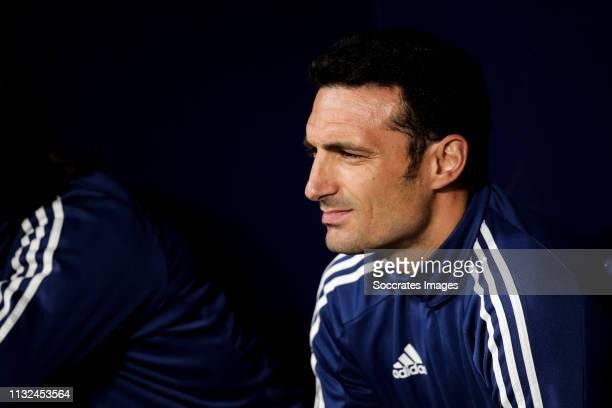 coach Lionel Scaloni of Argentina during the International Friendly match between Argentina v Venezuela at the Estadio Wanda Metropolitano on March...