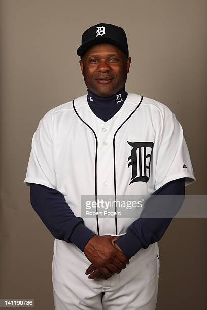 Coach Lloyd McClendon of the Detroit Tigers poses during Photo Day on Tuesday February 28 2012 at Joker Marchant Stadium in Lakeland Florida
