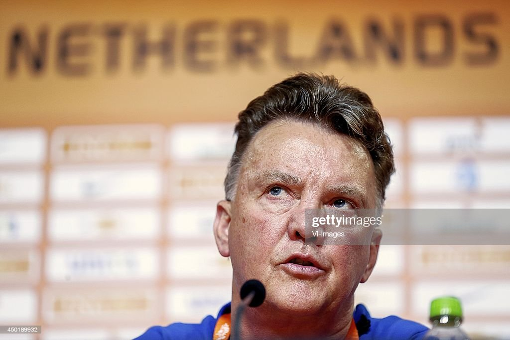 Coach Louis Van Gaal Of Holland During A Press Conference