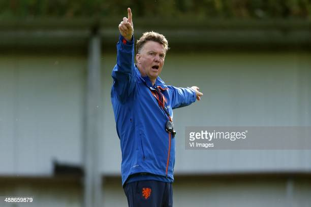 ,coach Louis van Gaal of Holland during a training session of the Netherlands on May 7, 2014 at Hoenderloo, The Netherlands.