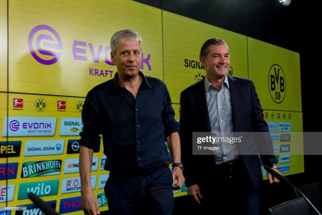 Borussia Dortmund Unveils New Signing Head Coach Lucien Favre : News Photo