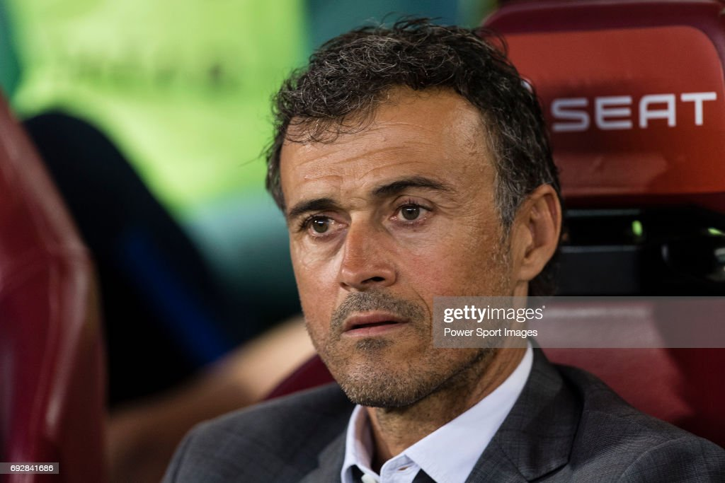 Coach Luis Enrique Martinez Garcia of FC Barcelona during the Copa Del Rey Final between FC Barcelona and Deportivo Alaves at Vicente Calderon Stadium on May 27, 2017 in Madrid, Spain.