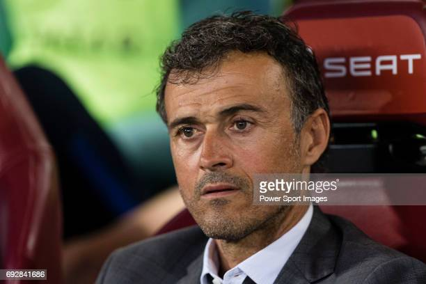Coach Luis Enrique Martinez Garcia of FC Barcelona during the Copa Del Rey Final between FC Barcelona and Deportivo Alaves at Vicente Calderon...