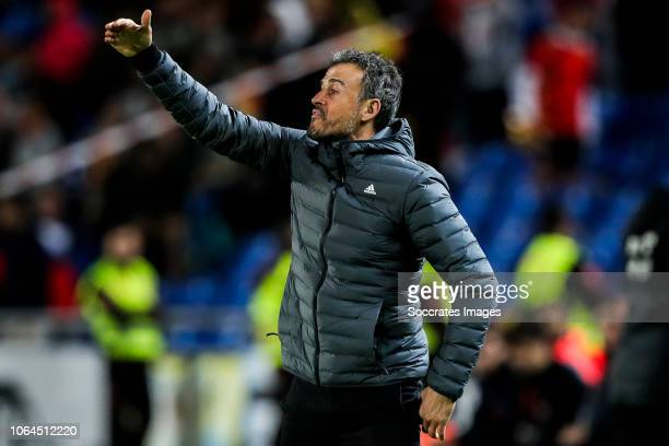 coach Luis Enrique of Spain during the UEFA Nations league match between Spain v Bosnia and Herzegovina at the Estadio de Gran Canaria on November 18...