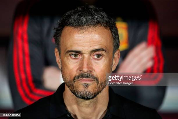 Coach Luis Enrique of Spain during the UEFA Nations league match between Spain v Bosnia and Herzegovina at the Estadio de Gran Canaria on November...